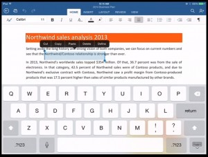Microsoft Office For Mobile word ipad