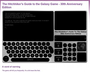 hitchhikers guide 30th anniversary text adventure game