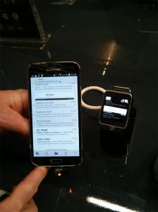 spritz speed reading service running on a Samsung Galaxy S5