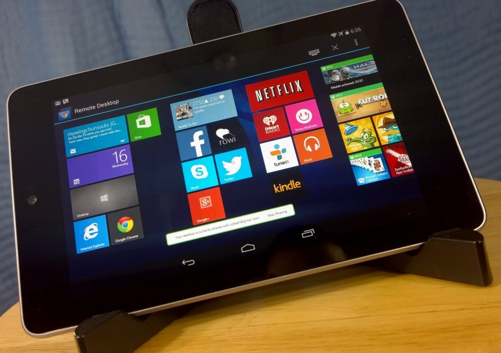 Nexus 7 Chrome Remote Desktop Windows 8 SomeGadgetGuy