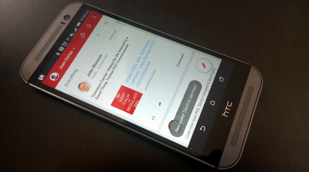 new google plus app on HTC one m8
