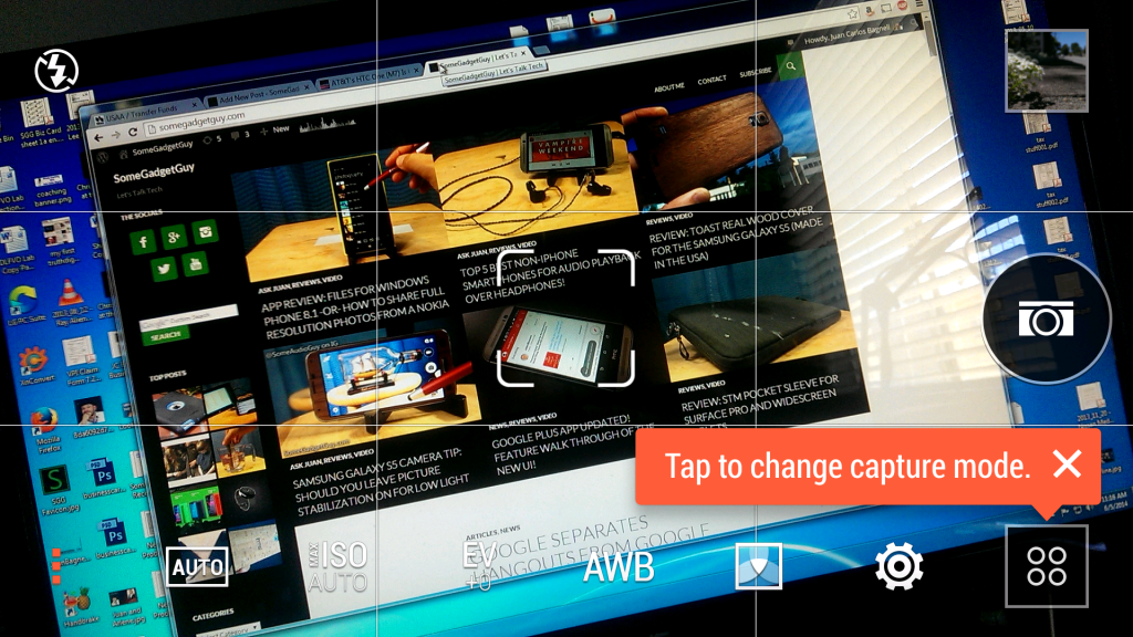 HTC One M7 updated camera app screenshot somegadgetguy