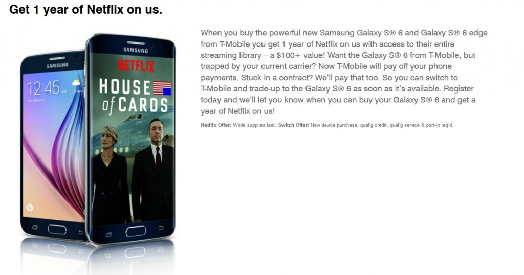 t-mobile free netflix samsung galaxy s6 somegadgetguy