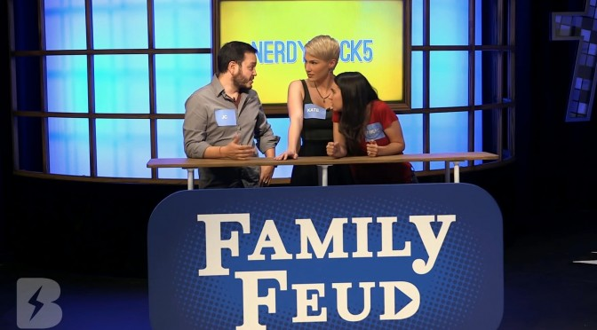 youtube buzzr family feud somegadgetguy juan bagnell trisha hershberger game show katers