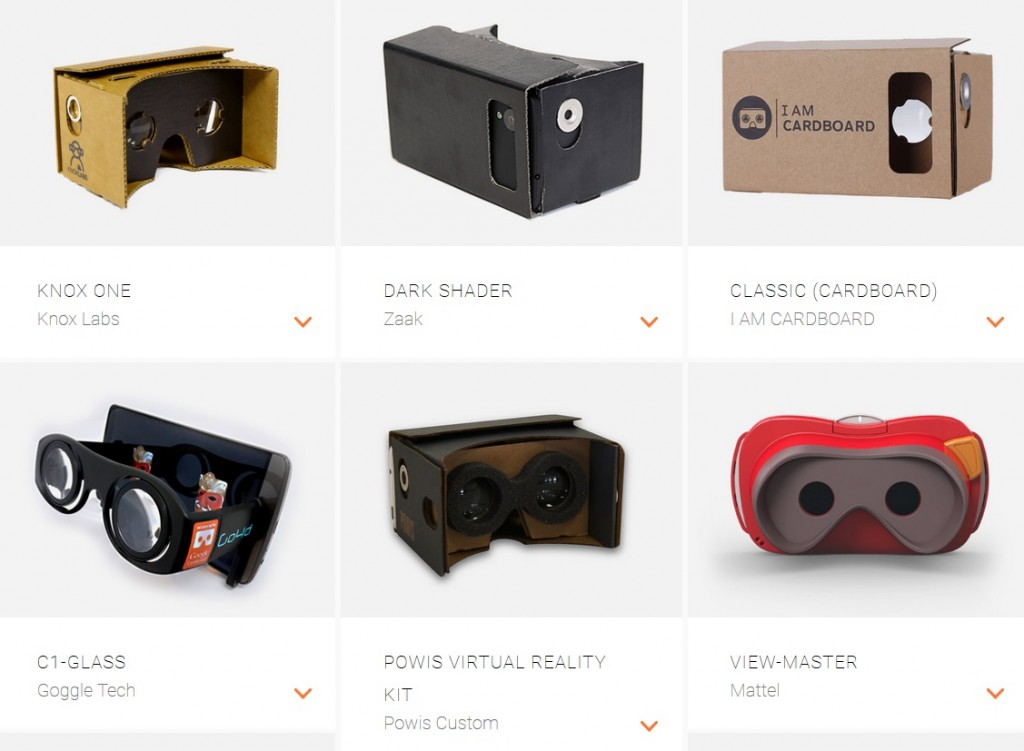 google works with cardboard vr headset virtual reality