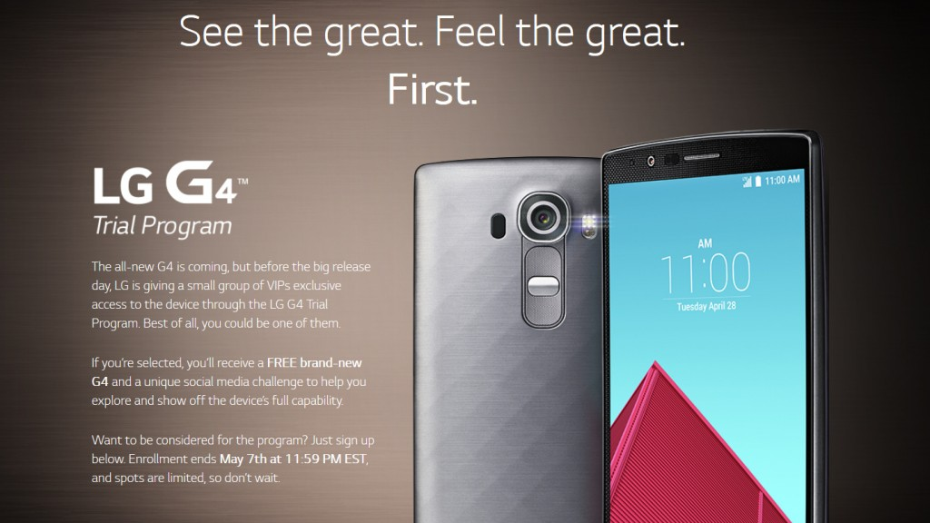 LG G4 trial program