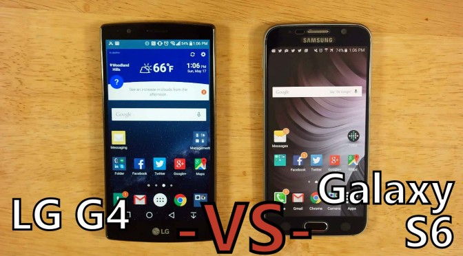 galaxy s6 vs lg g4 comparison versus android phone showdown somegadgetguy