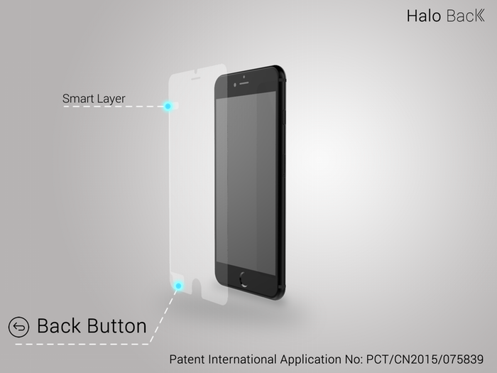 halo back kickstarter project iphone back button
