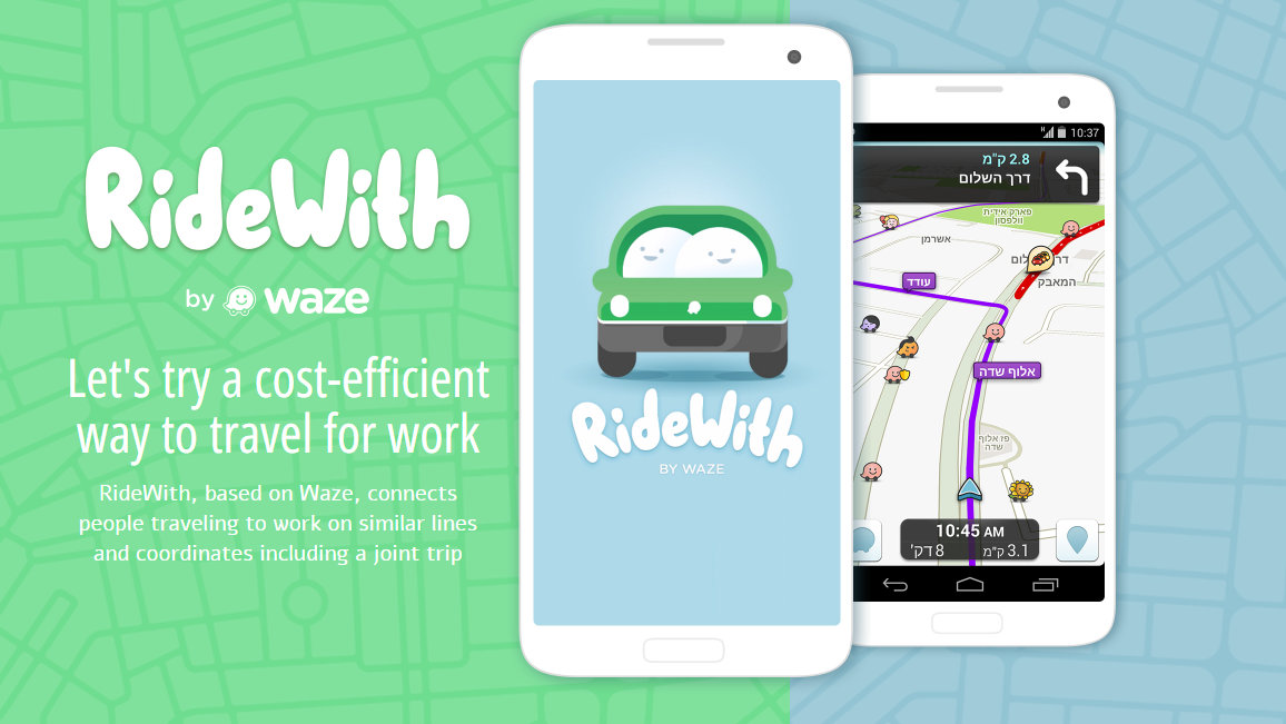 "Waze Unveils Ride Sharing Service ""RideWith"" in Limited BETA"
