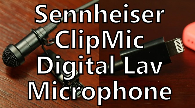 sennheiser clipmic digital lavalier lav microphone for iphone lightning connector review somegadgetguy