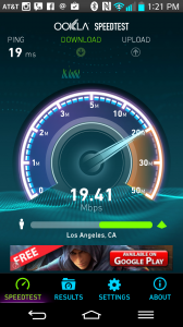 ookla speedtest app screen shot