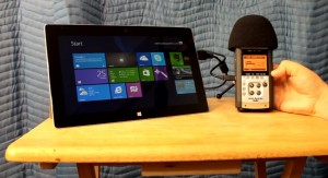 surface 2 audio recording mobile home sound USB microphone Zoom h4n somegadgetguy