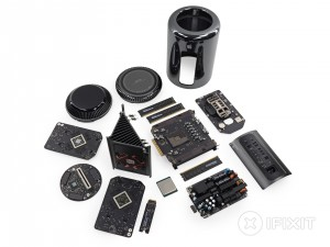 mac pro 2013 disassembled ifixit