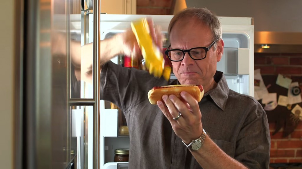 alton brown mustard bottle caddy lifehack