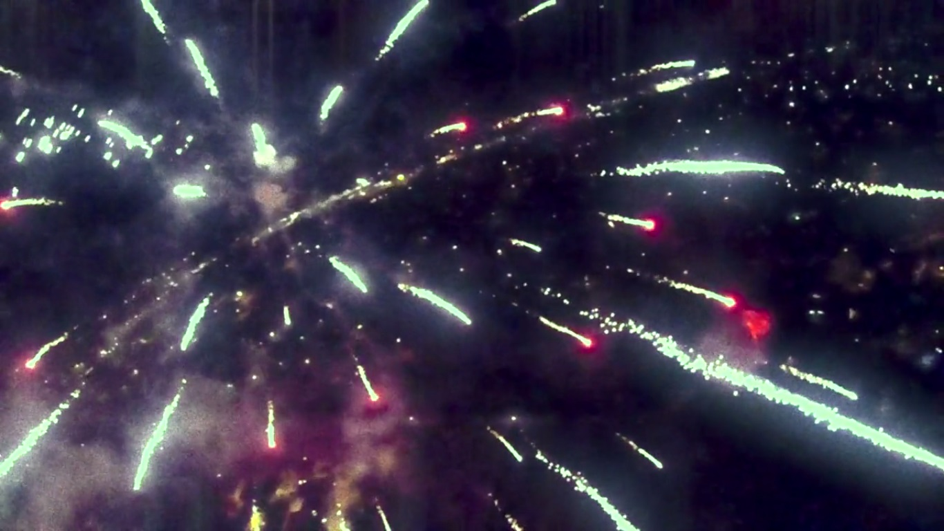 quadcopter fireworks video