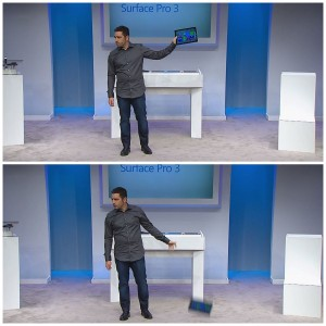 Surface Pro 3 live drop test