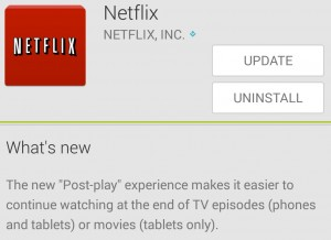 netflix post play android update