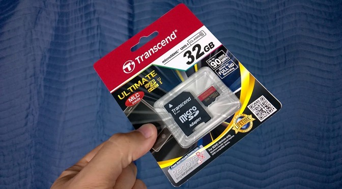 transcend 600X MicroSD card review somegadgetguy