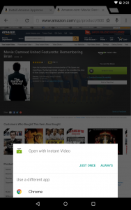 amazon prime instant video on android tablet browser chrome somegadgetguy