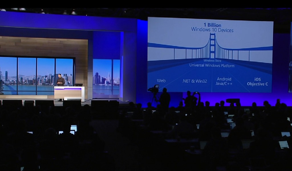 windows 10 microsoft build developer conference apps software ios android